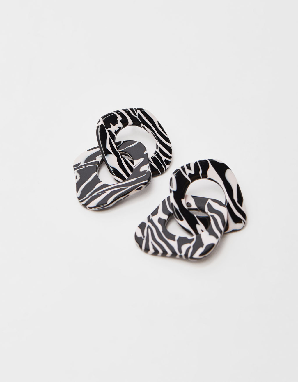 Zebra print earrings