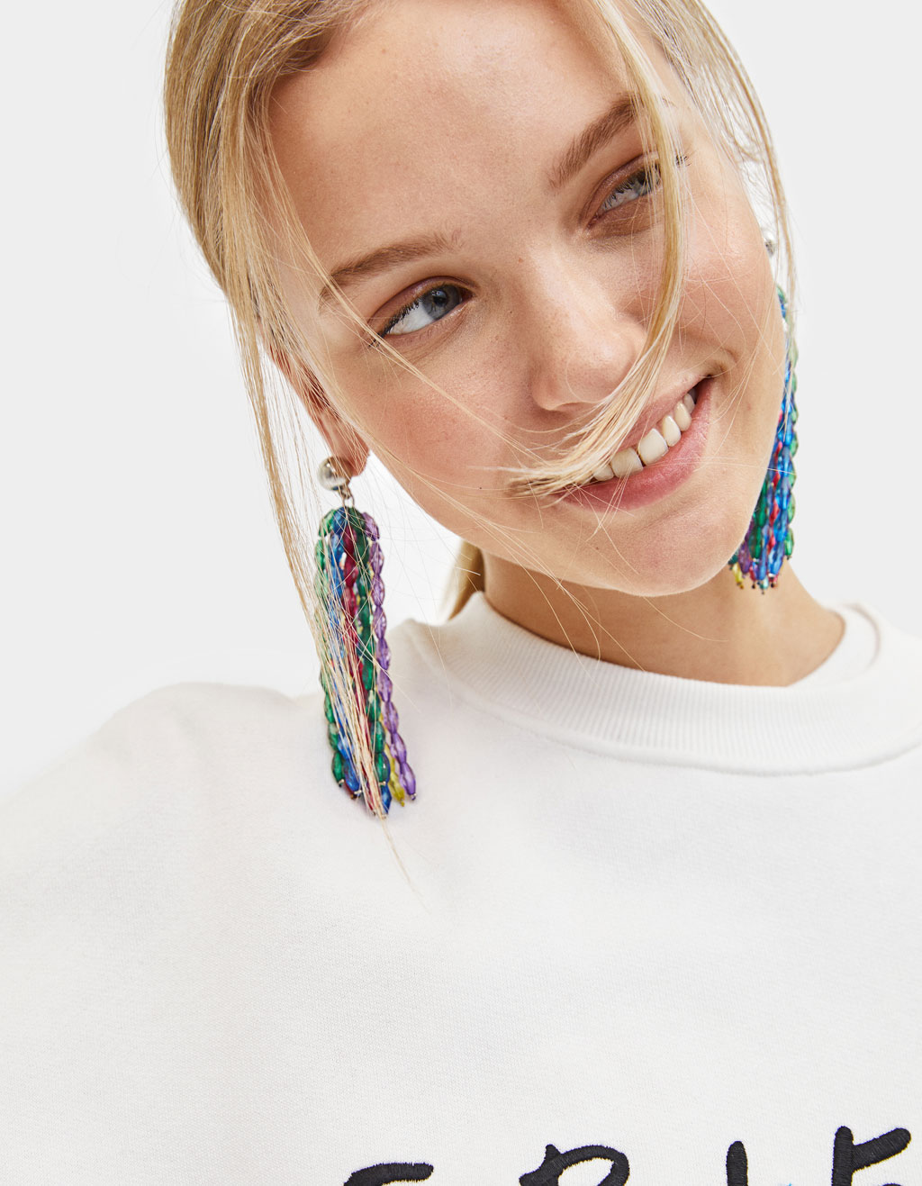 Boucles d'oreilles pendantes perles fantaisie
