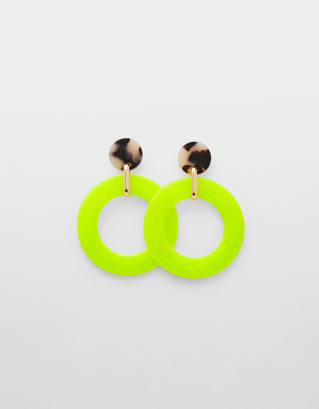 Neon maxi earrings