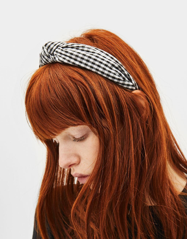 Gingham print headband