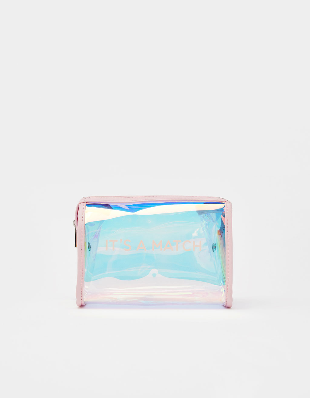 Iridescent toiletry bag