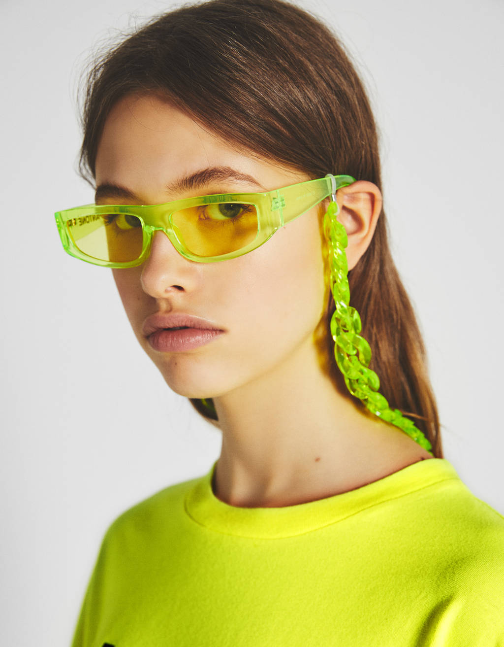 Bershka + PANTONE sunglasses and chain set