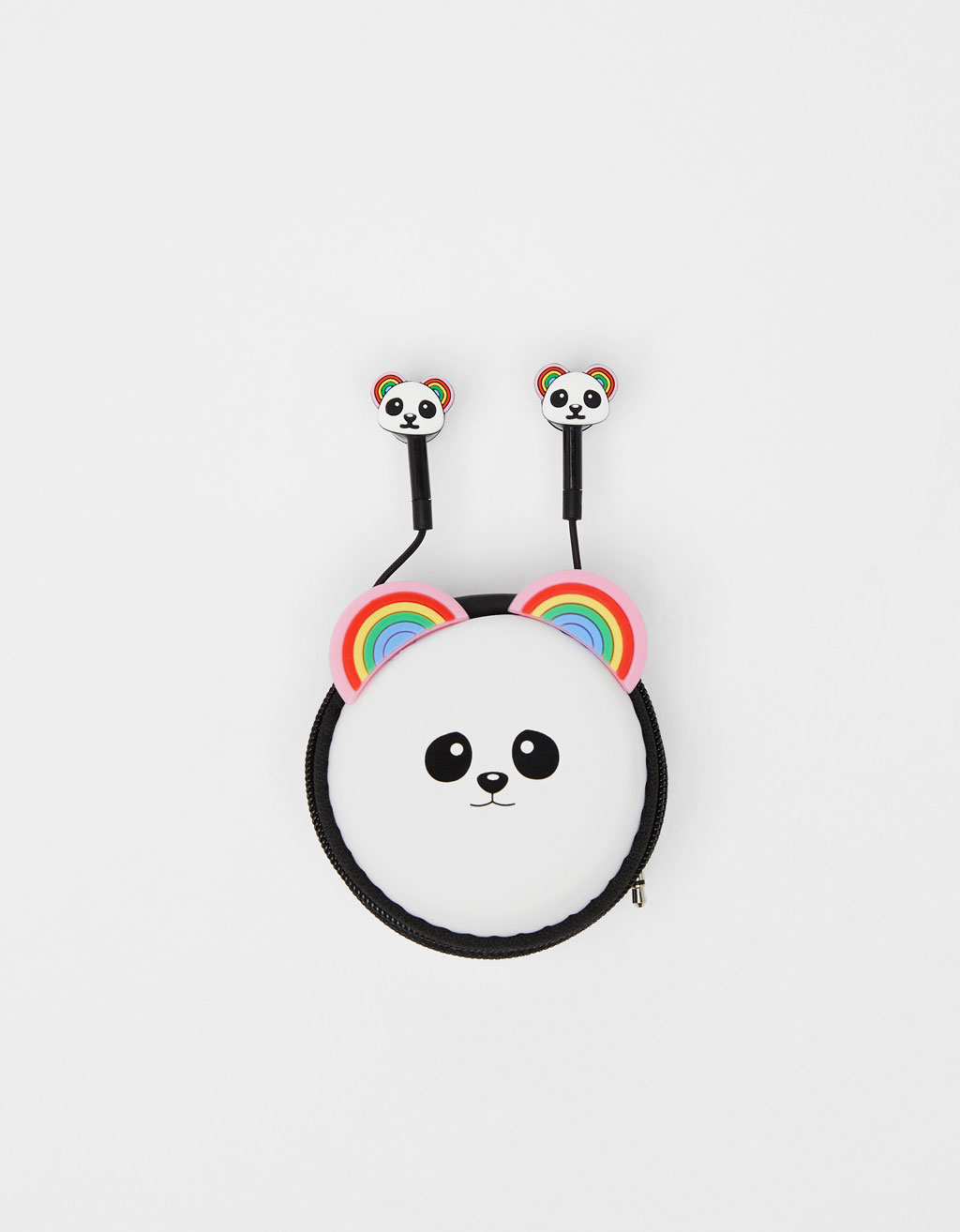 Panda headphones with carrying bag