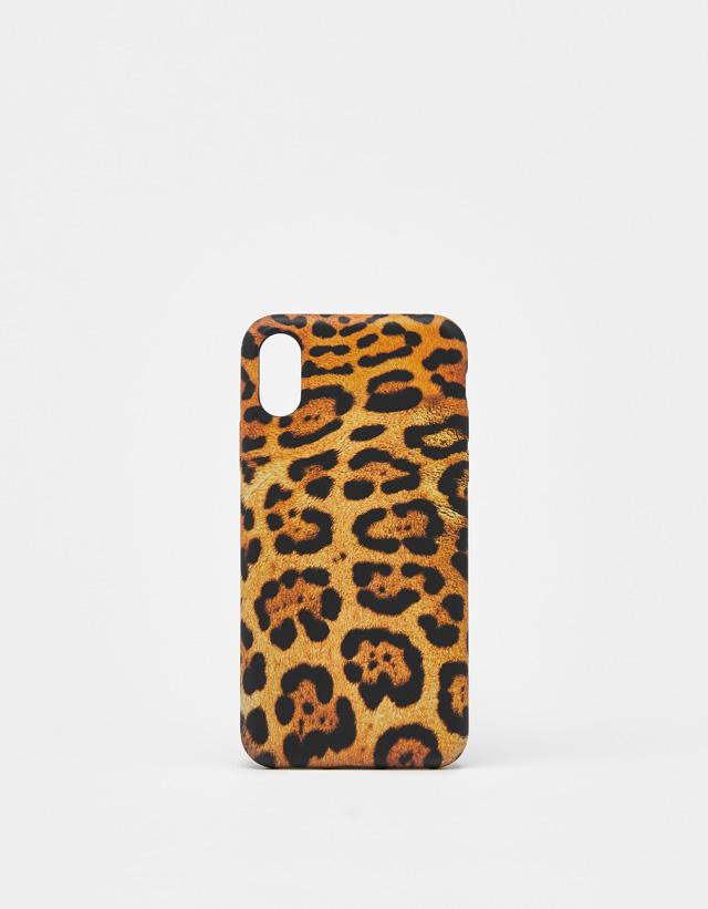 check out 5810f cf9a7 Leopard iPhone X/XS case - iPhone Cases - Bershka United Kingdom