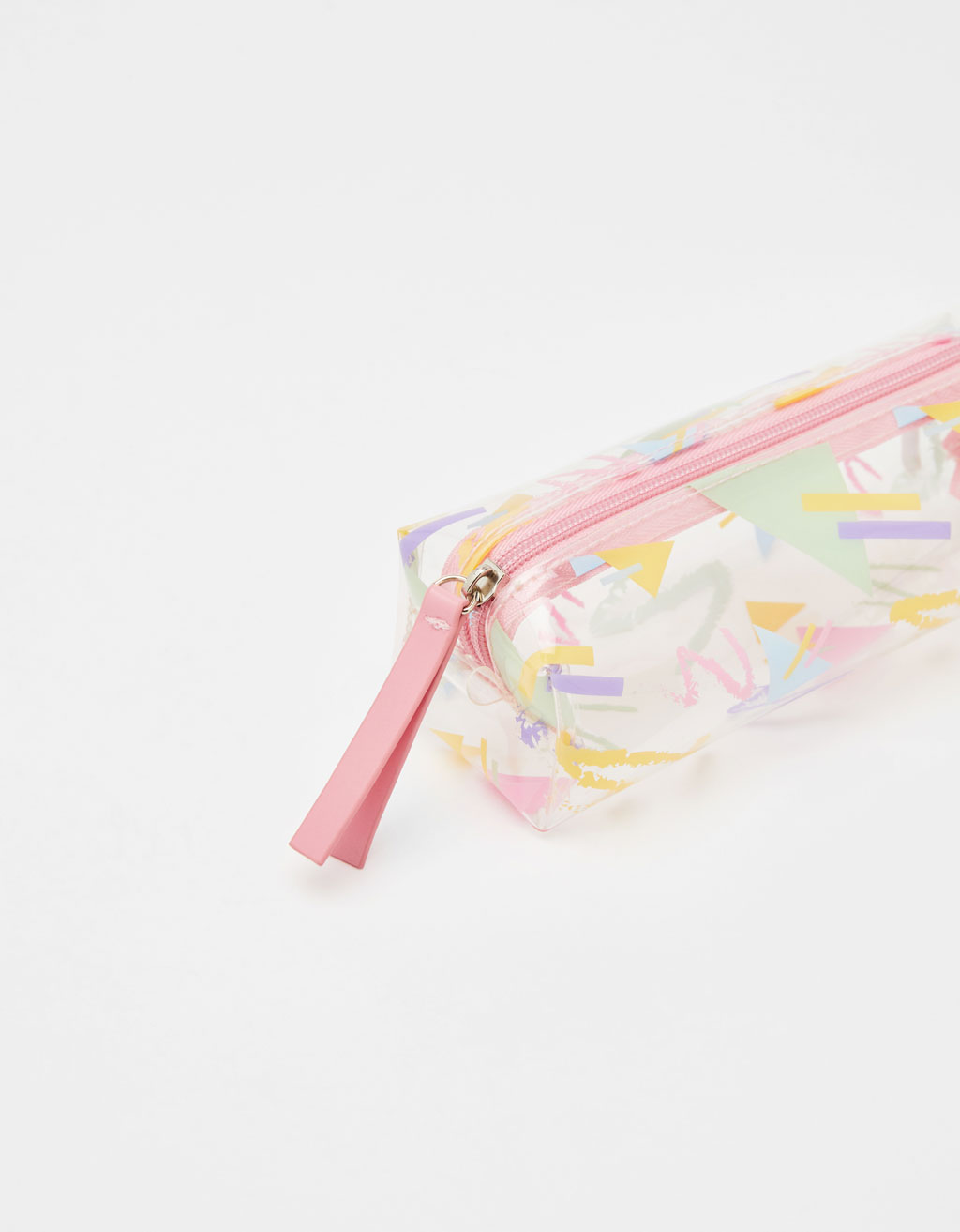 Transparent 80s pencil case