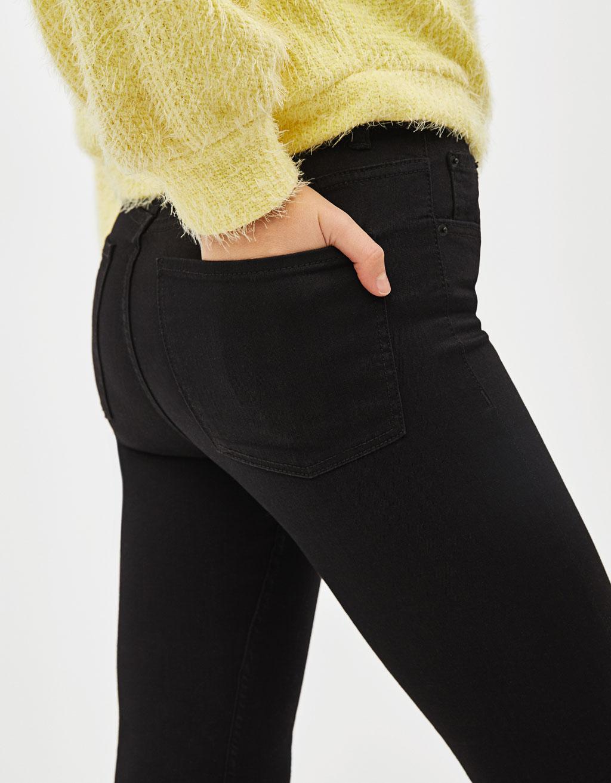 35d0e129ce827 Jean skinny taille haute - Bottes et bottines - Bershka France