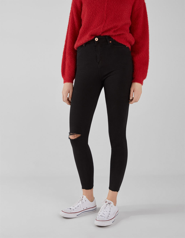 Pantalons High Rise amb esquinços
