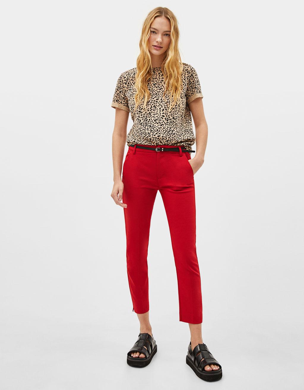 Pantaloni chino cu curea