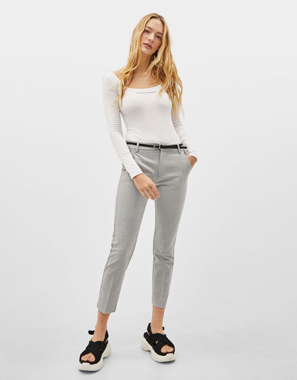 Pantalon chino avec ceinture