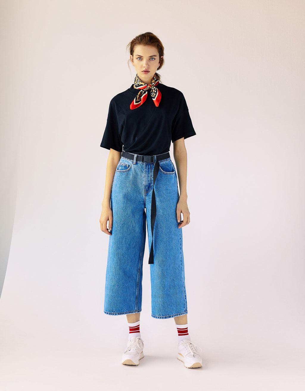 Jupe-culotte taille haute