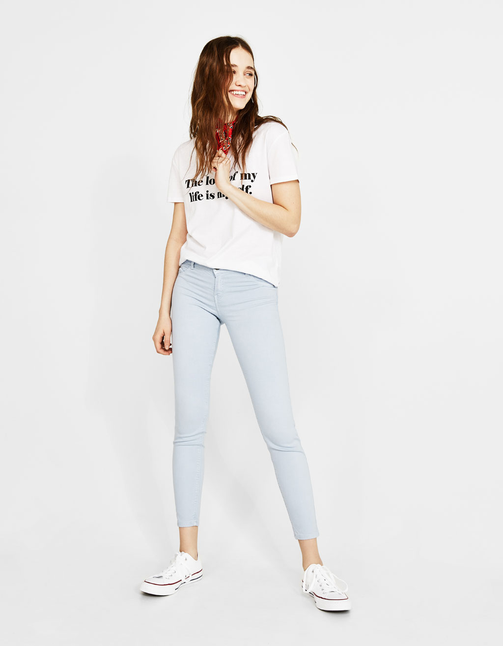 Super skinny low waist trousers