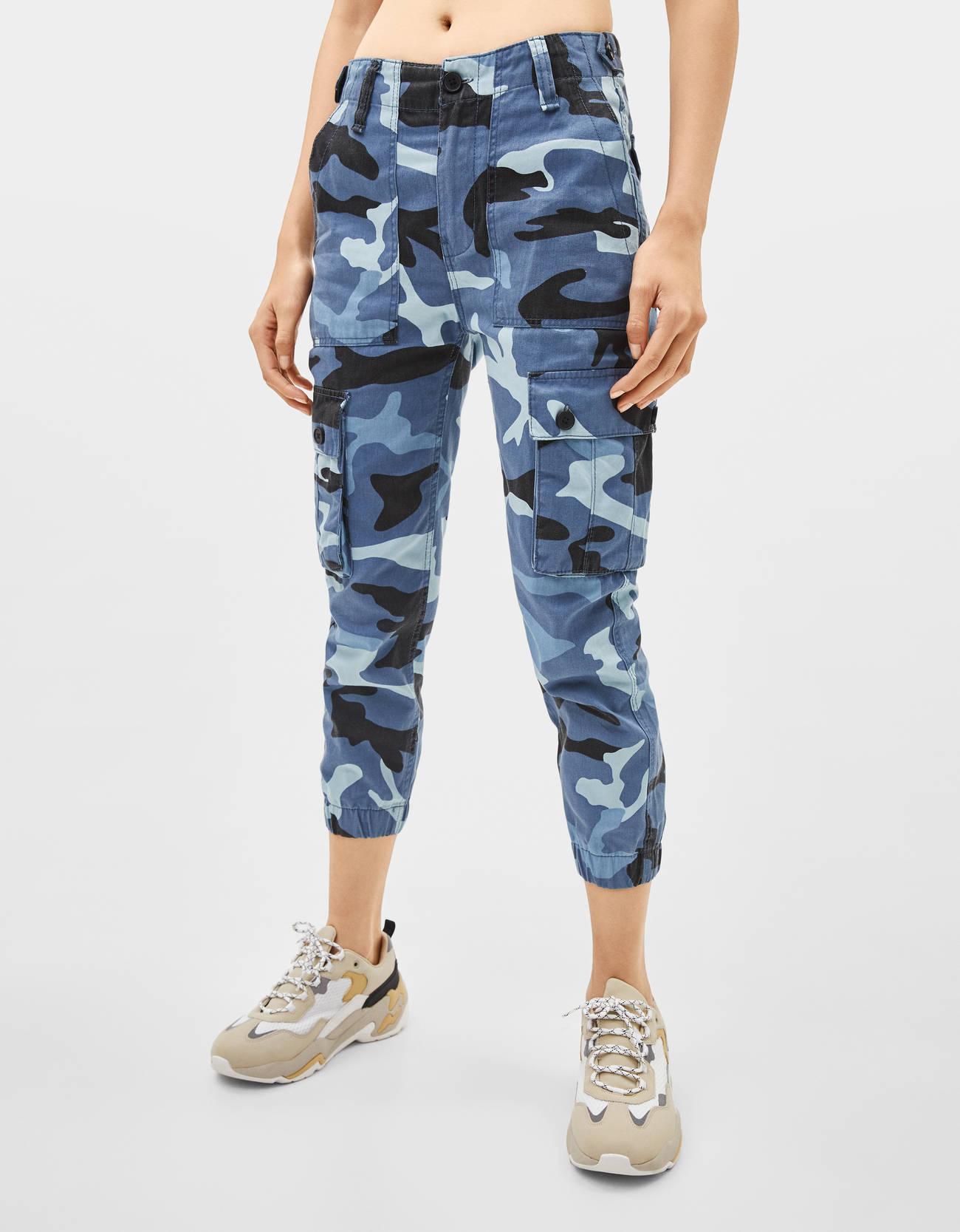 Modalite Net Bershka Cargo Pants
