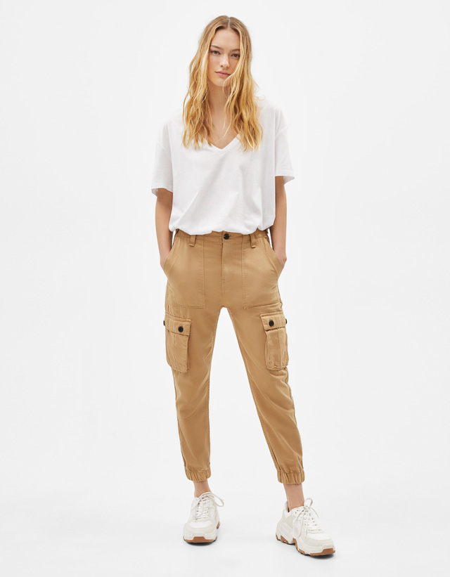 Skinny Joggingbroek Dames.Joggers Broeken Collectie Dames Bershka Netherlands