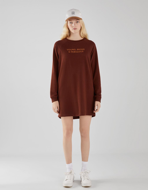 Kleid aus Sweatstoff