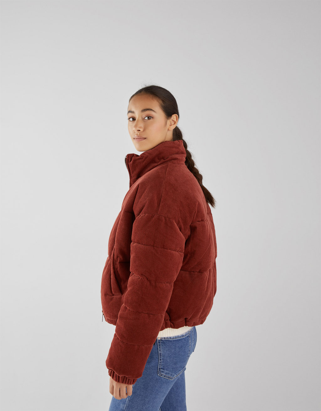 Corduroy puffy jack