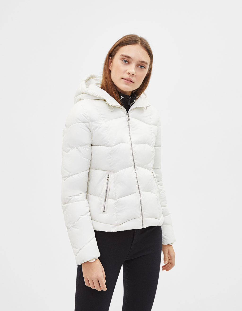 Light hooded puffer jacket
