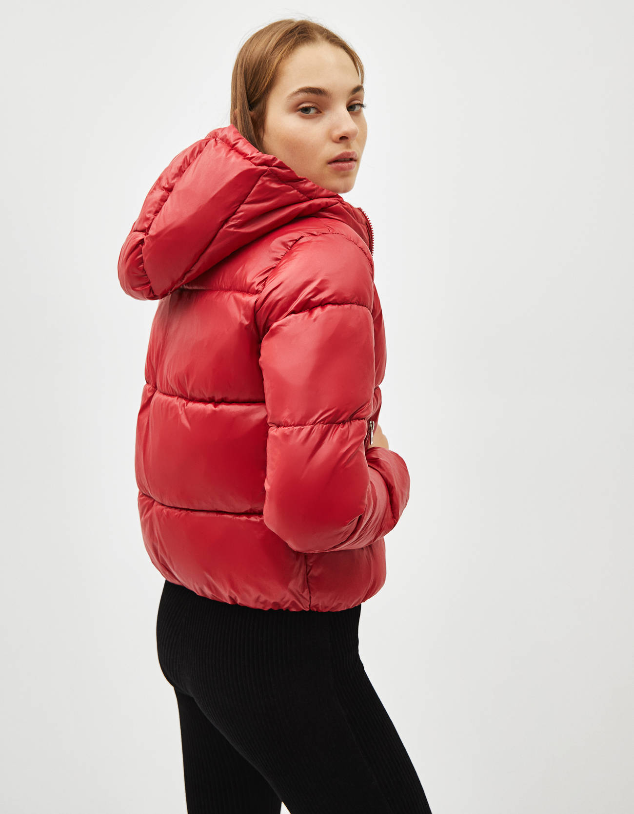 Puffer jacket with hood  Puffer jacket with hood ... 6434173794