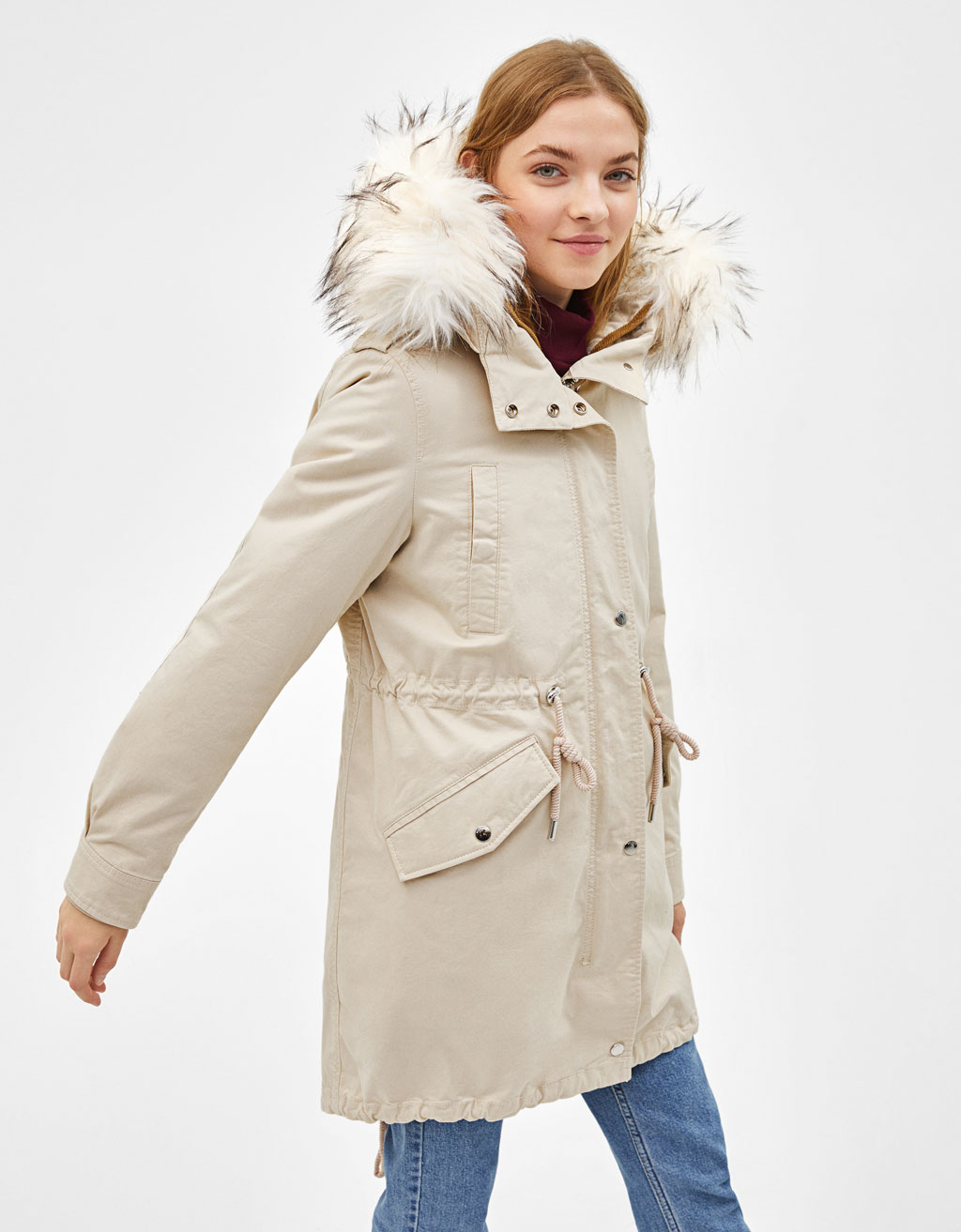 new product 89431 e7f10 Parka-style coat with removable lining
