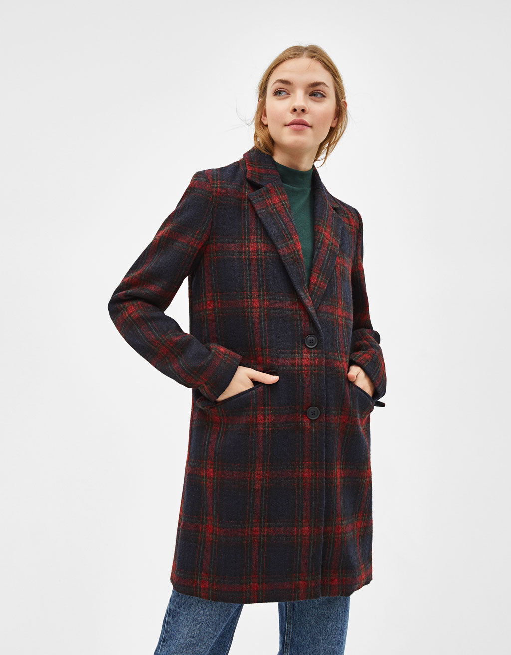 Straight cut wool coat