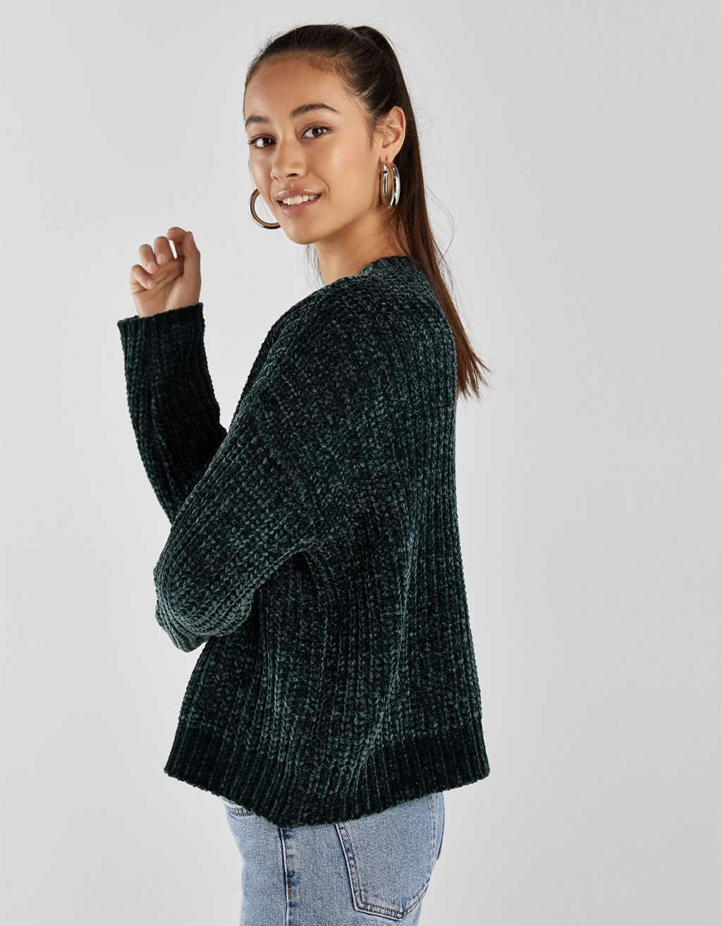 Oversized chenille sweater