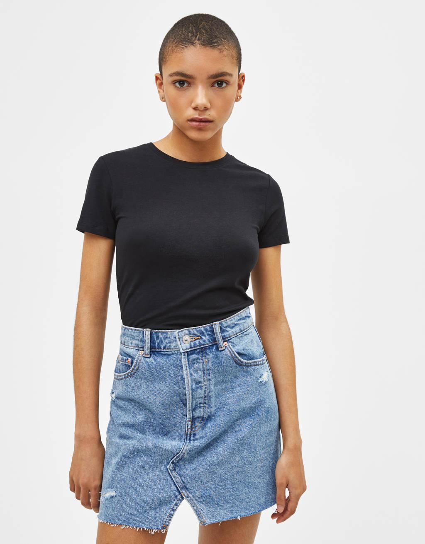 Μπλουζάκι με στρογγυλή λαιμόκοψη