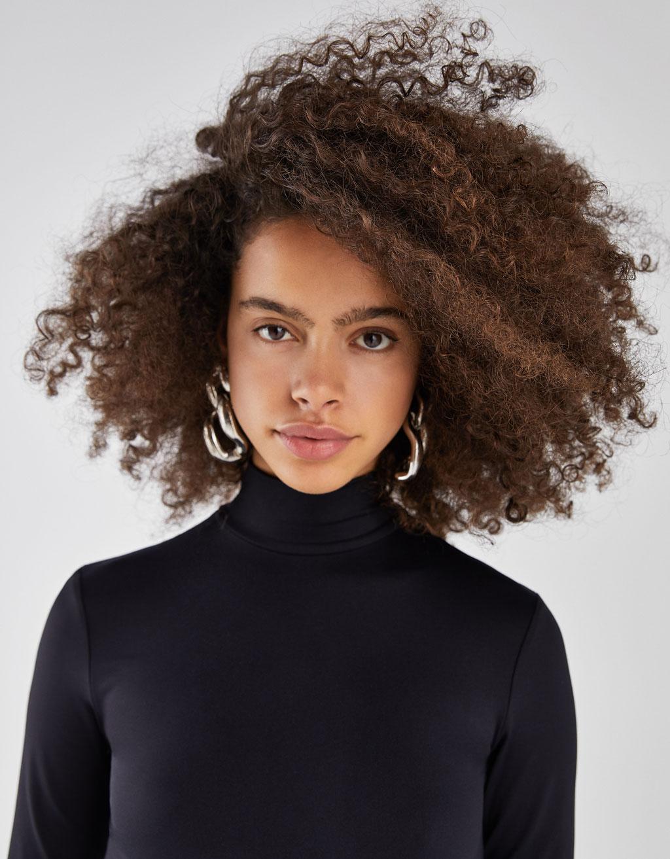 High neck bodysuit