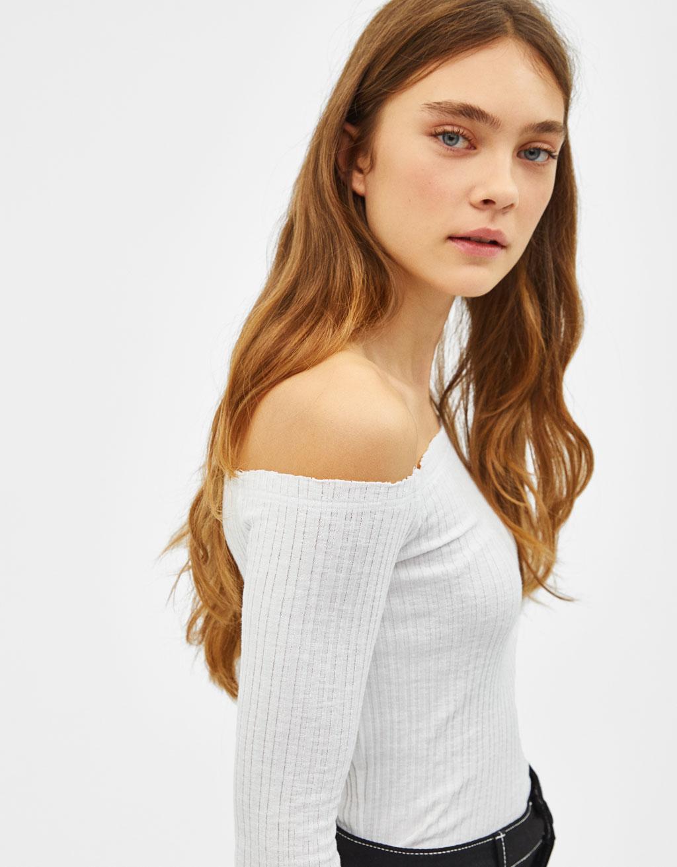 más vendido mejor lugar materiales superiores Camiseta con cuello bardot