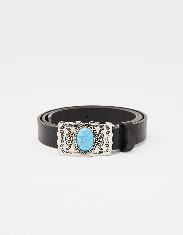 Turquoise stone belt