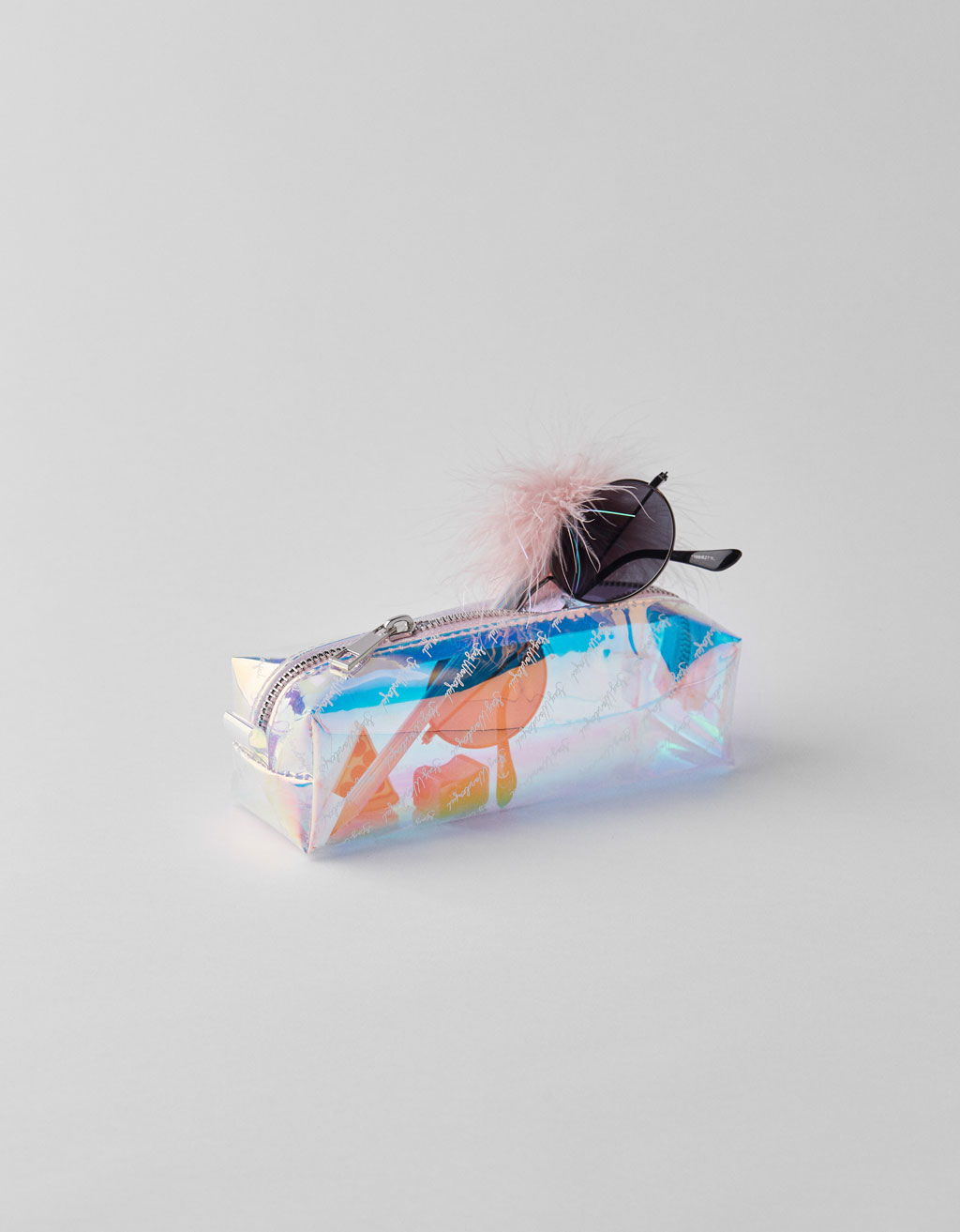 Transparent 'Stay Wonderful' pencil case