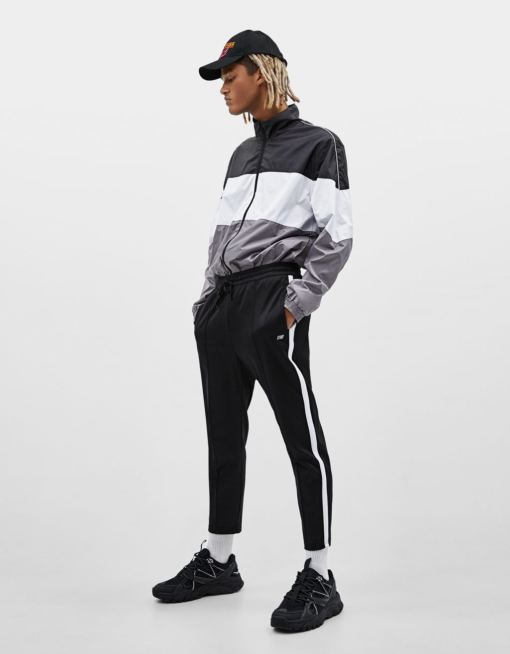 Jogging pants with side stripes