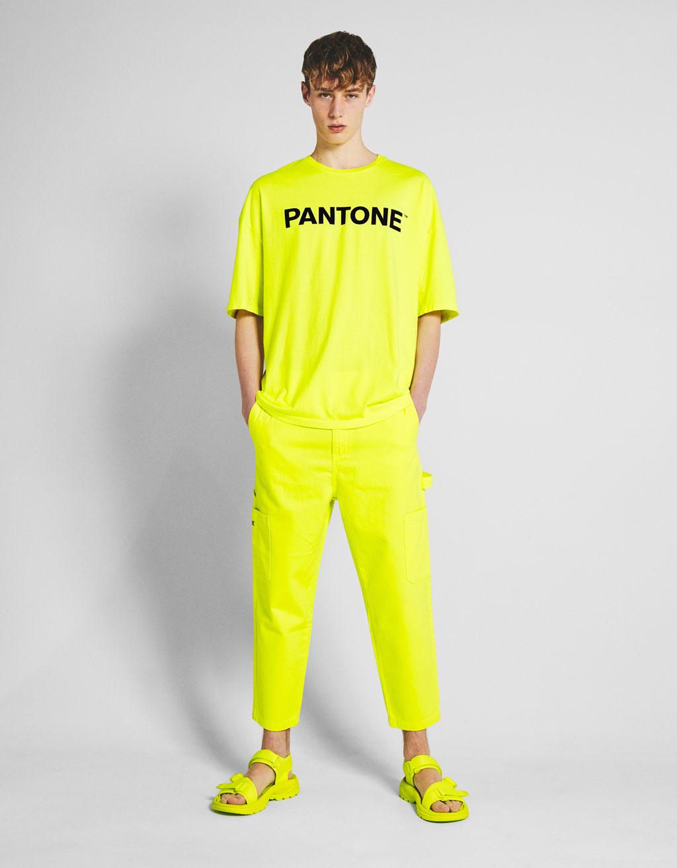 Pantalón utility Bershka + PANTONE