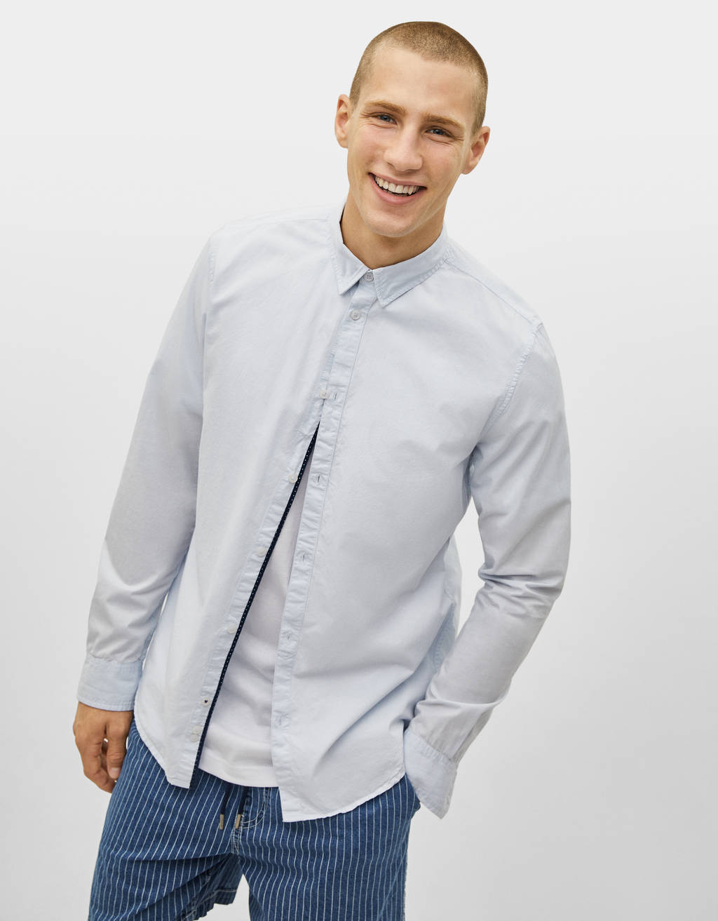 Regular fit long sleeve shirt