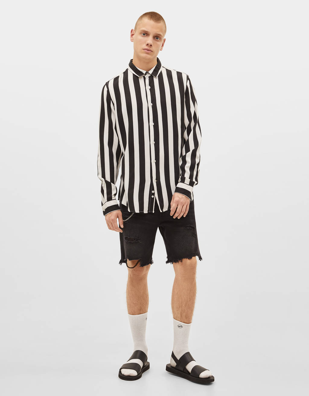 Striped slim fit shirt