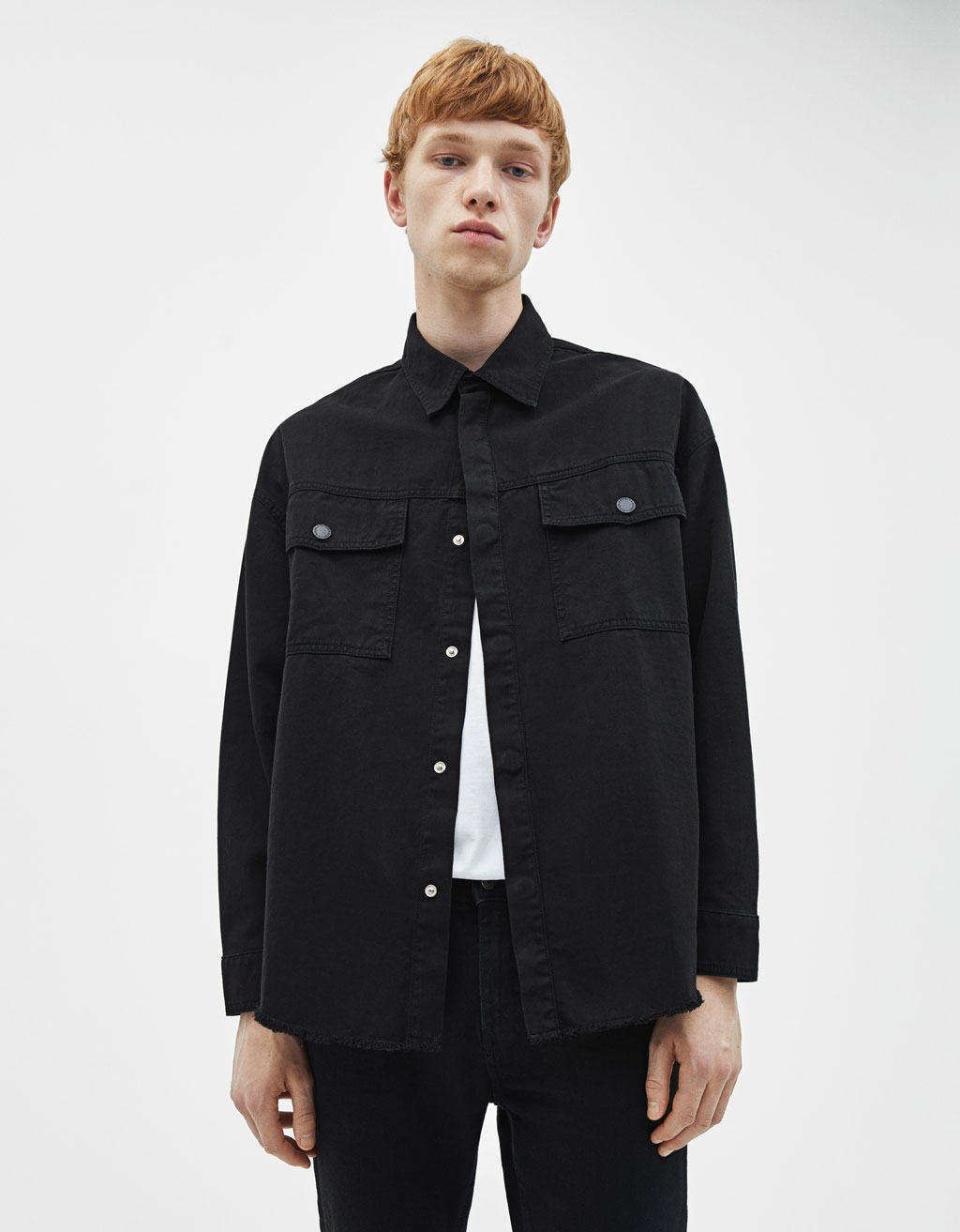 Oversized shirt with pockets