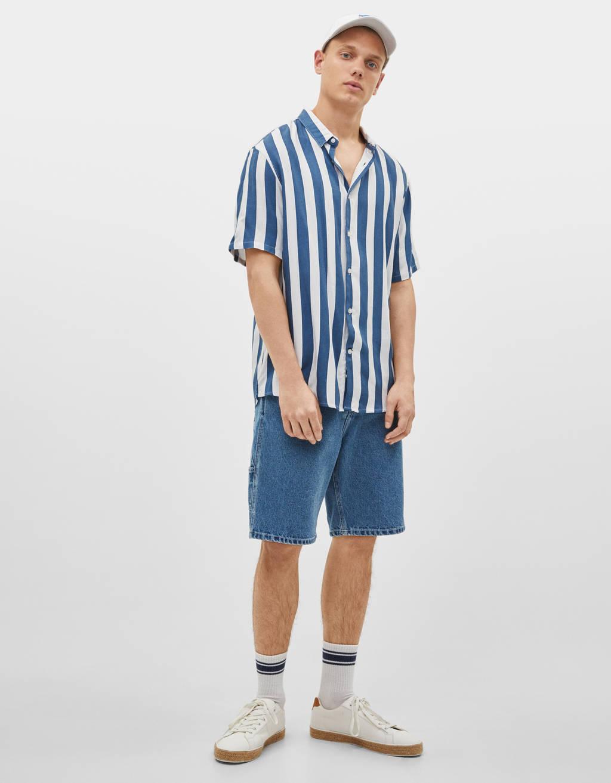Wijd overhemd met korte mouw