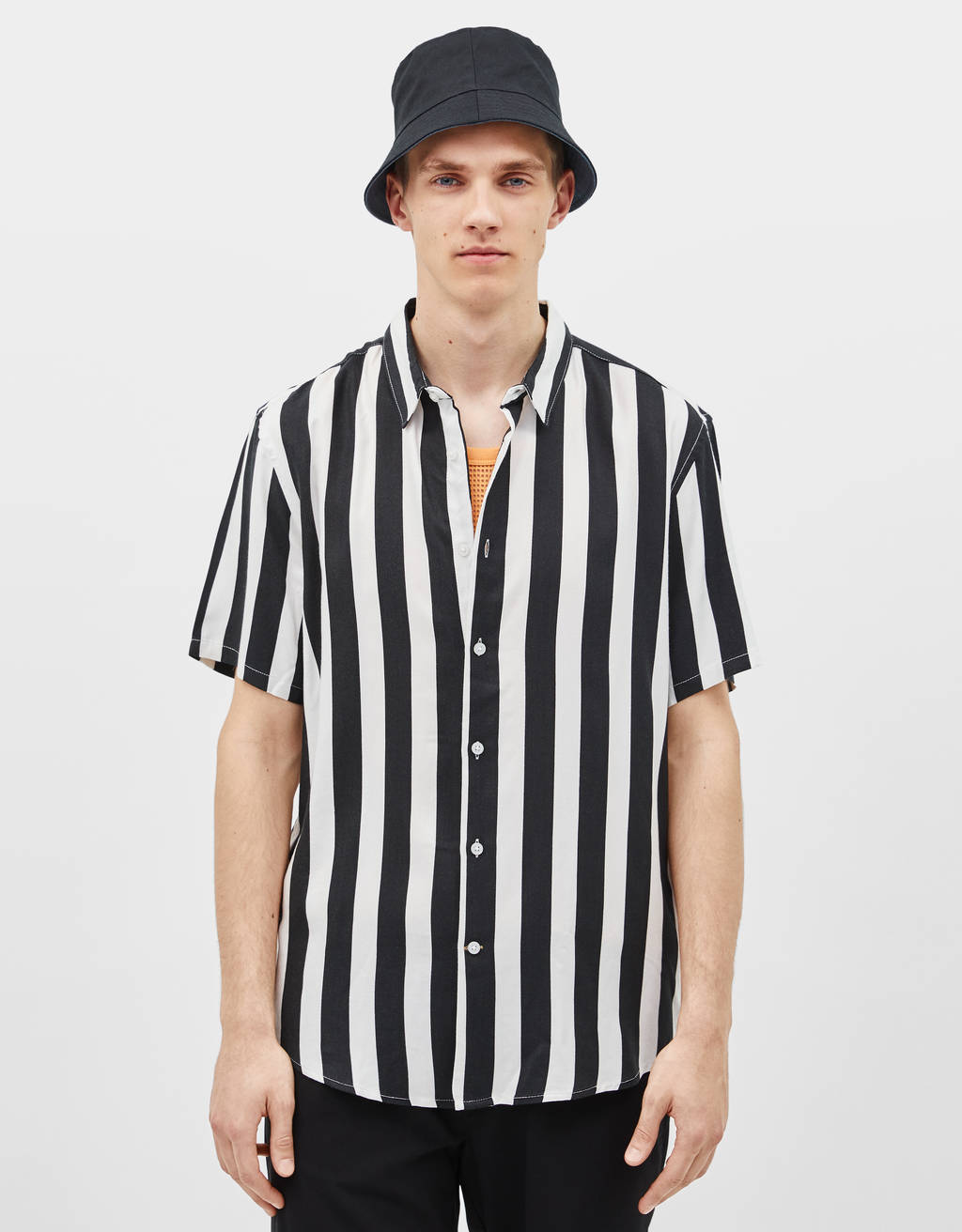 Flowing short sleeve shirt