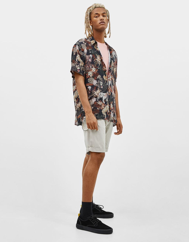 Camicia con stampa jungle