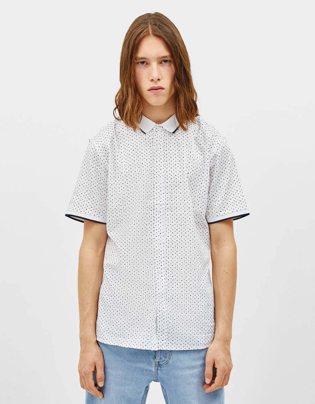 Polo collar shirt