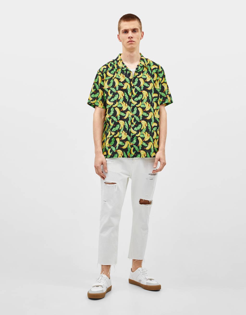 Bananais marginti marškiniai
