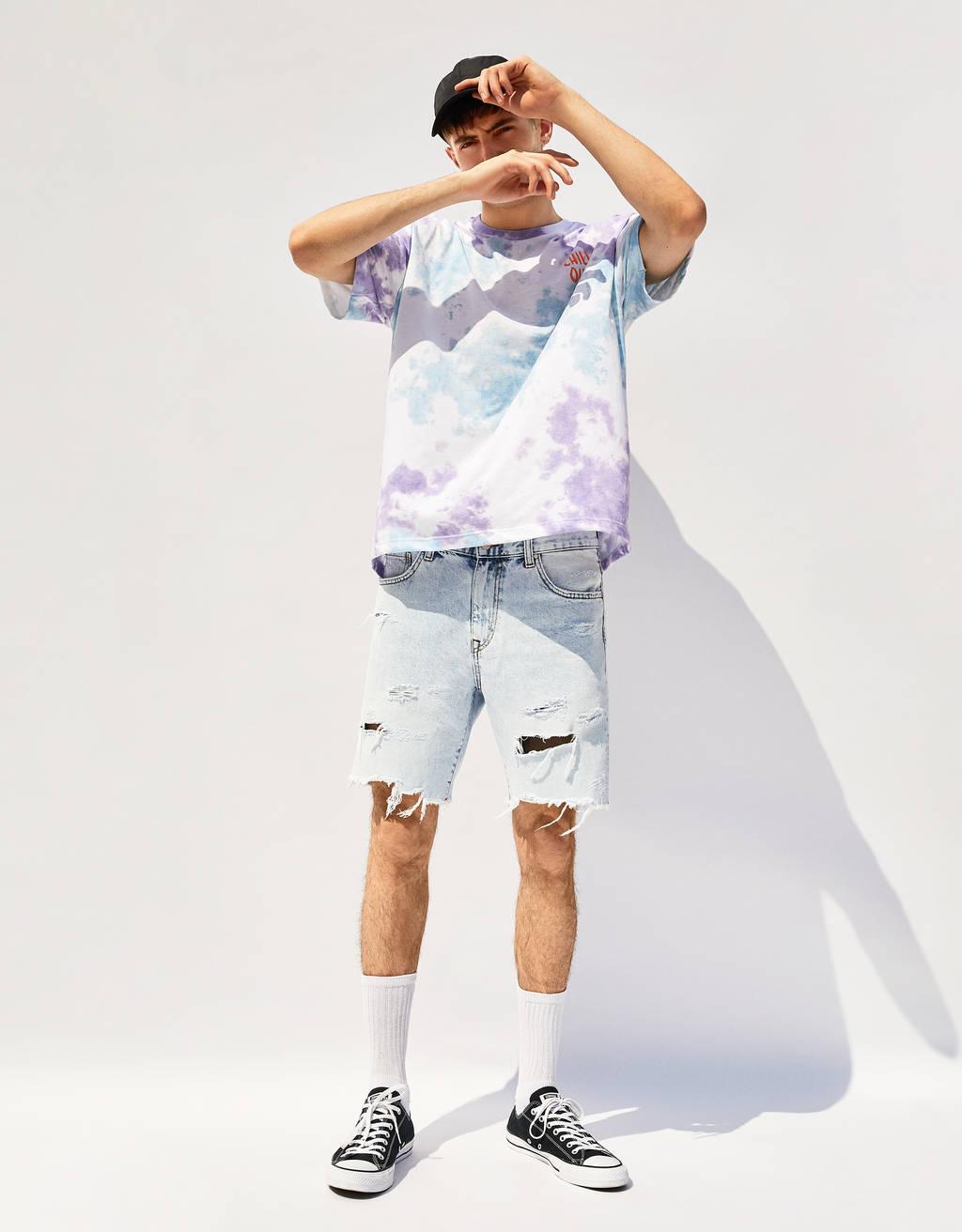 Majica s tie dye vzorcem