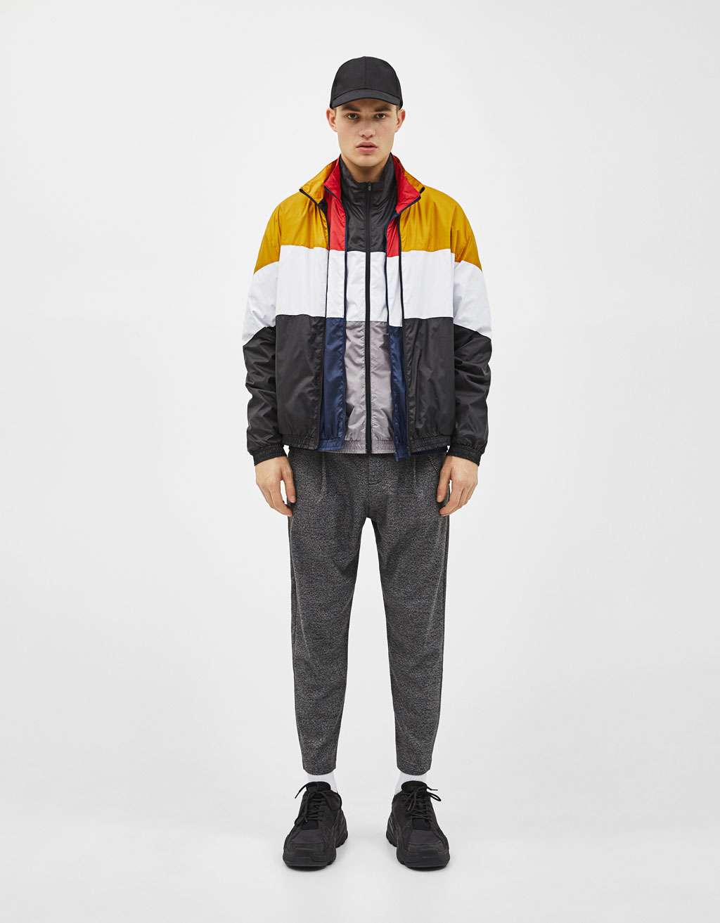 Thin colour block jacket