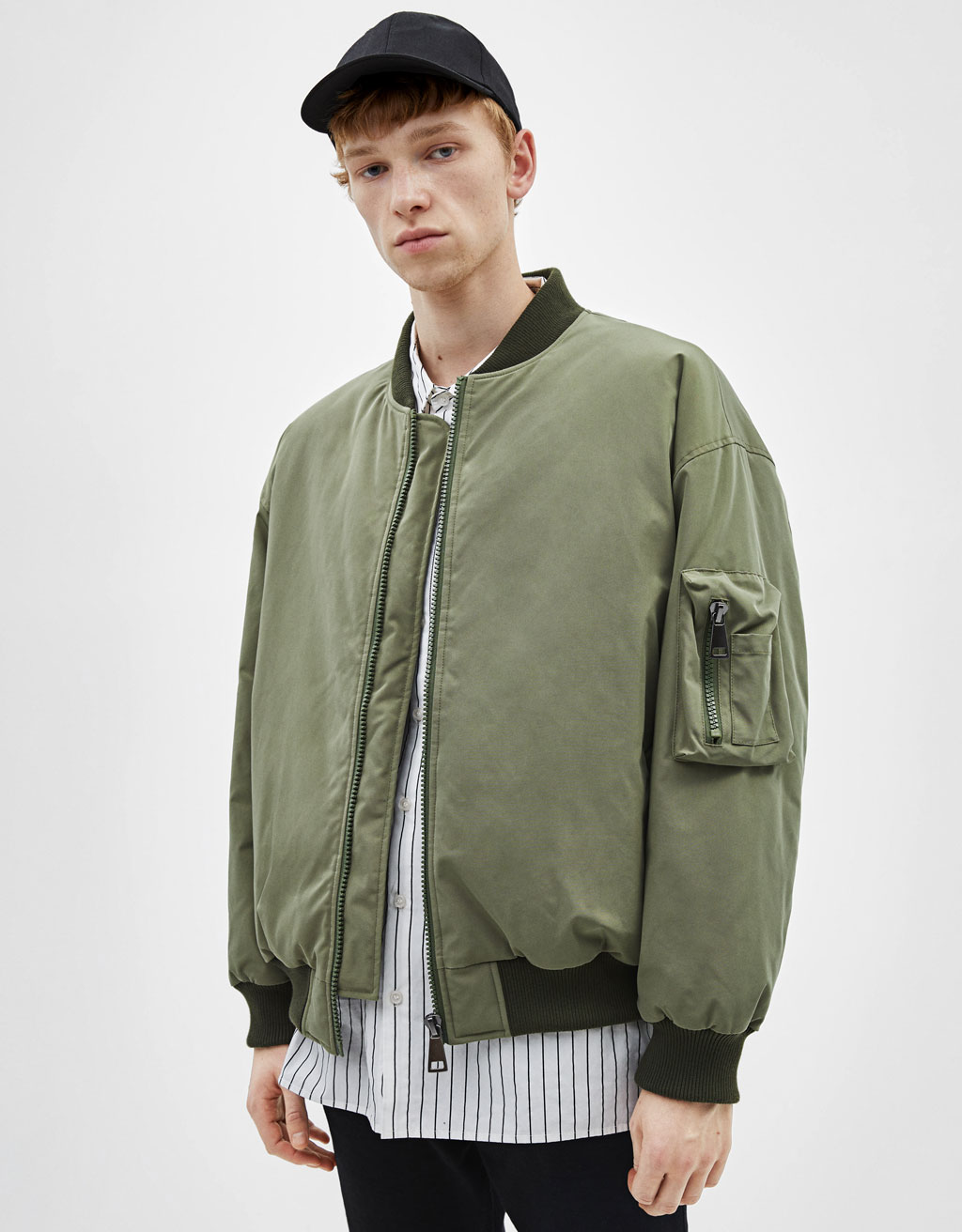 Oversized bomber jacket