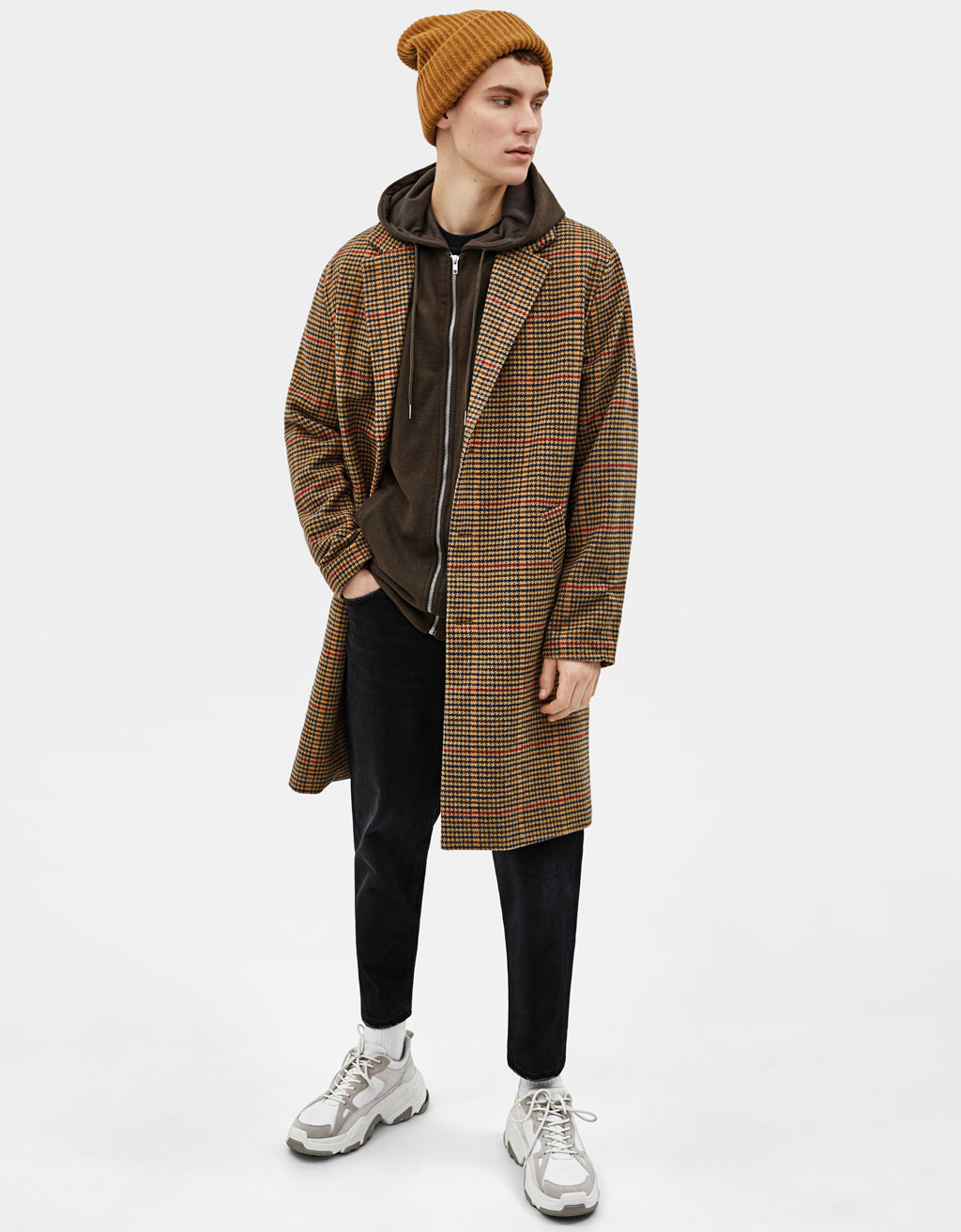 Hooded piqué jacket