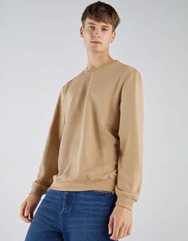 Sportisks džemperis ar apaļu kakla izgriezumu