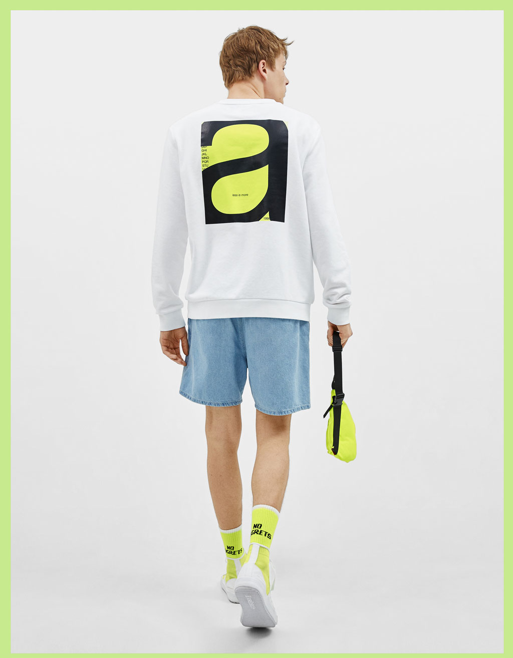 Sweatshirt with neon print detail