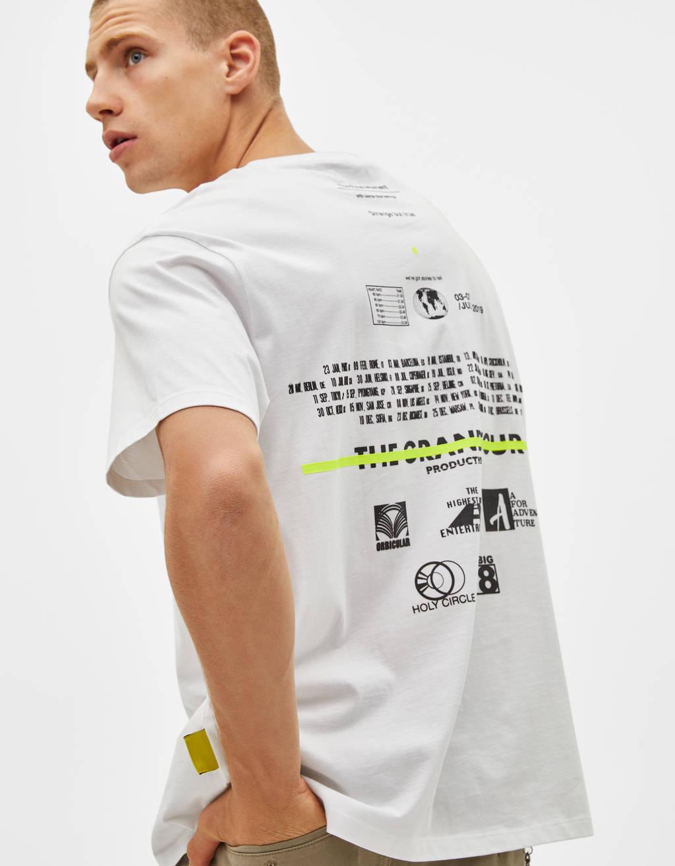 Neon slogan print T-shirt