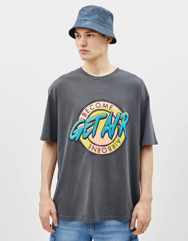 Majica z neon potiskom