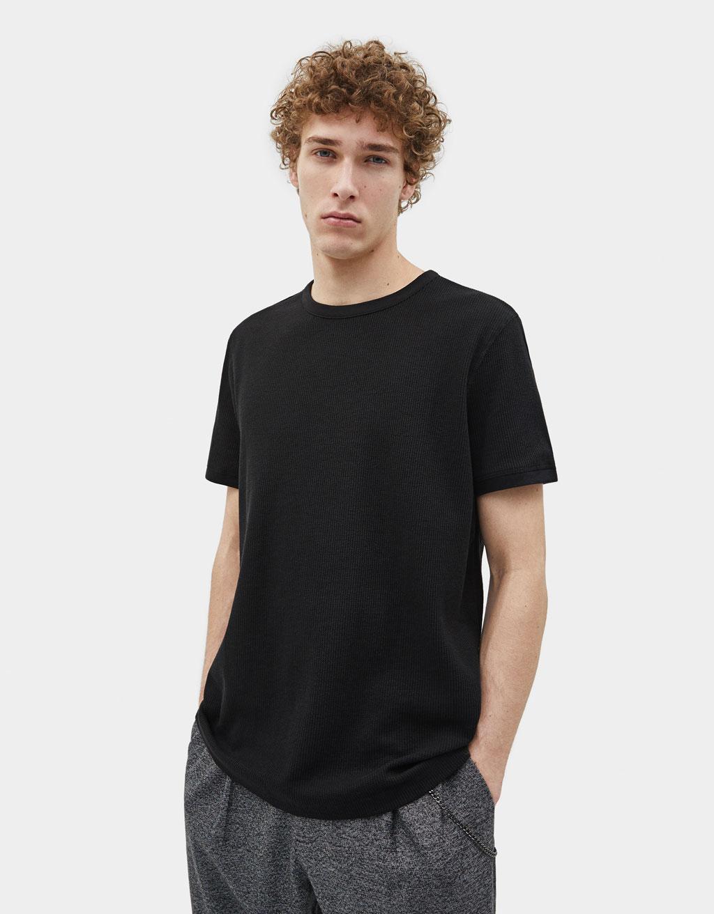 Majica z vafljevim vzorcem