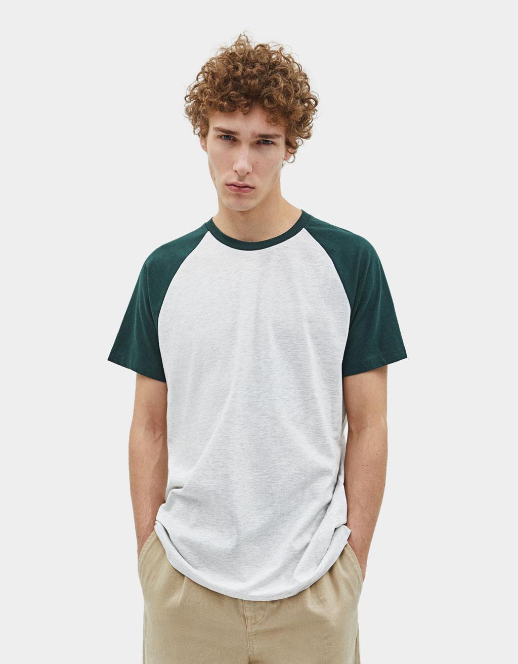 T-shirt estilo basebol