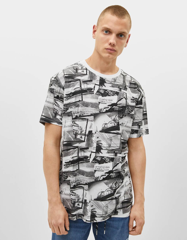 Μπλουζάκι με στάμπα φωτογραφία